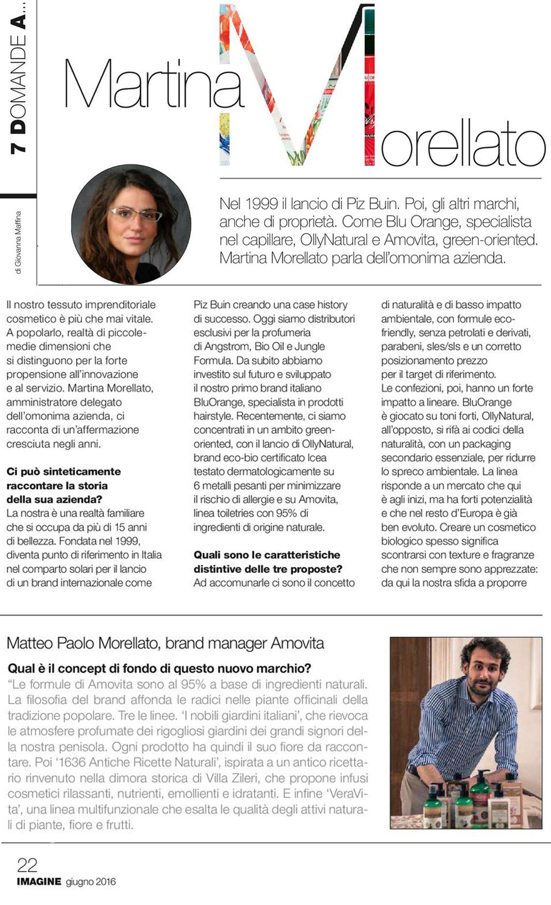 """Imagine: Interview to Martina Morellato """"7 questions to..."""""""